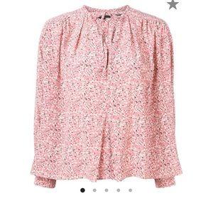🌸 NWT Isabel Marant pink flower Amba top